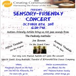Next Sensory-Friendly Concert is Sat. October 8th!