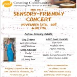 Sensory-Friendly Concert this Saturday, Nov.12th, 6:30pm!