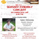 Sensory-Friendly Concert Saturday December 10th, 6:30pm