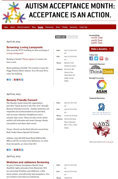 Acceptance Month Events 2