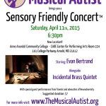Sensory Friendly Concerts for Autism Acceptance Month!
