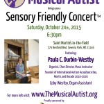 Our next Sensory Friendly Concert – Featuring Paula Durbin-Westby!