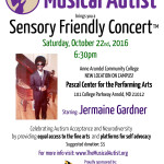 Sensory Friendly Concert! October 22nd!
