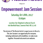 Empowerment Jam Session on October 28th