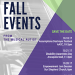 Fall Events from The Musical Autist