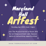 Join us at Maryland Hall for ArtFest on April 8th!