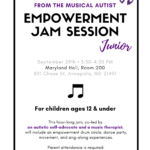 Empowerment Jam Session Junior on September 29th!