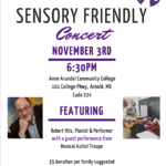 Sensory Friendly Concert on November 3rd at 6:30pm!
